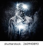 Man With Conceptual Spiritual...