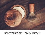Shaving Brush And Soap On A...