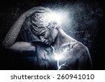 man with conceptual spiritual... | Shutterstock . vector #260941010