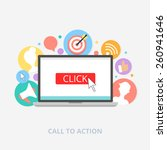 call to action concept  vector... | Shutterstock .eps vector #260941646
