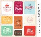 mother's day typography design...   Shutterstock .eps vector #260942510