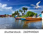 jamaica. national boats on the... | Shutterstock . vector #260944064