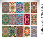 cards collection. vintage...   Shutterstock .eps vector #260945879