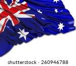 australian flag with white | Shutterstock . vector #260946788
