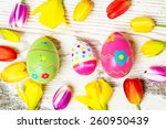 colorful easter decoration | Shutterstock . vector #260950439