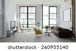 modern loft with retro details  ... | Shutterstock . vector #260955140