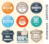 badge guarantee  best choice... | Shutterstock .eps vector #260955158