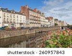 embankment of river vilaine in... | Shutterstock . vector #260957843