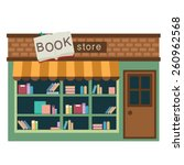 book store vector illustration... | Shutterstock .eps vector #260962568