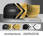 Creative leaf business card design | Shutterstock vector #260963318