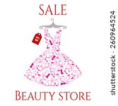 beautiful pink dress sale | Shutterstock .eps vector #260964524