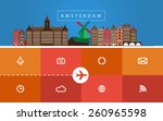 site of travel agency. in the... | Shutterstock .eps vector #260965598