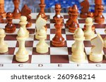 chess pieces on a chess board | Shutterstock . vector #260968214