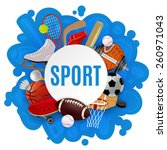 sport equipment concept with... | Shutterstock .eps vector #260971043
