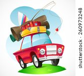 illustration of a car traveling ... | Shutterstock .eps vector #260973248