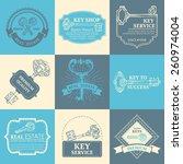 vector set of keys design... | Shutterstock .eps vector #260974004