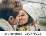 closeup of young beautiful... | Shutterstock . vector #260975228
