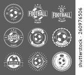 soccer football typography... | Shutterstock .eps vector #260976506