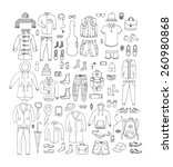 big hand drawn collection of... | Shutterstock .eps vector #260980868