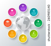 vector circle elements for... | Shutterstock .eps vector #260985140