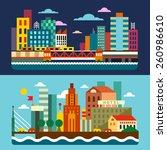 city skyline. megalopolis. day... | Shutterstock .eps vector #260986610
