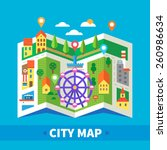 City Map. Navigator. Locations...