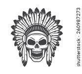 illustration of american indian ... | Shutterstock .eps vector #260987273
