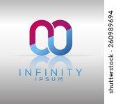 silver infinity logo template.... | Shutterstock .eps vector #260989694