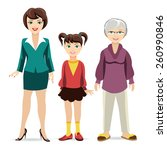 three ages of women. daughter ... | Shutterstock . vector #260990846