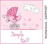 baby girl arrival | Shutterstock .eps vector #26099287