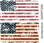 old scratched flag. vector... | Shutterstock .eps vector #260997200