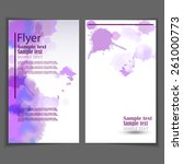 vector flyer template. business ... | Shutterstock .eps vector #261000773