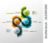 vector timeline infographic... | Shutterstock .eps vector #261004283
