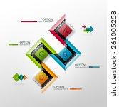 vector timeline infographic... | Shutterstock .eps vector #261005258