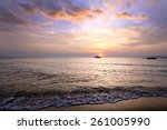 Seascape Scenic Sunset And...