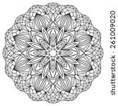 simple mandala with black... | Shutterstock .eps vector #261009020
