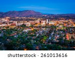 twilight view of the city of... | Shutterstock . vector #261013616