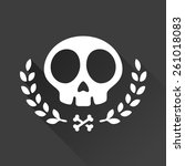 skull logo illustration with... | Shutterstock .eps vector #261018083