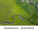 Aerial View Oa Green Land And...