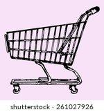 supermarket shopping cart ... | Shutterstock .eps vector #261027926