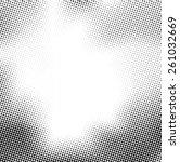 grunge halftone dots vector... | Shutterstock .eps vector #261032669