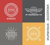 Vector Burger Logo Design...