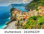 panorama of vernazza and... | Shutterstock . vector #261046229