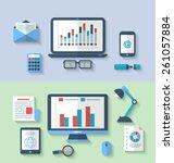 illustration designed banners... | Shutterstock .eps vector #261057884
