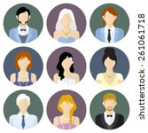 different people in formal... | Shutterstock .eps vector #261061718