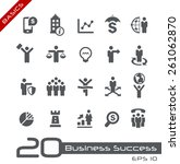 business icon set    basics | Shutterstock .eps vector #261062870