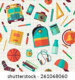 back to school background.... | Shutterstock .eps vector #261068060