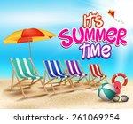 Summer Time In Beach Sea Shore...