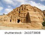 mountains of petra  jordan ... | Shutterstock . vector #261073808