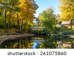 a part of small lake with... | Shutterstock . vector #261075860